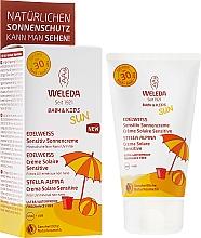 Düfte, Parfümerie und Kosmetik Sonnenschutzcreme für Babys und Kinder SPF 30 - Weleda Edelweiss Baby&Kids Sun SPF 30
