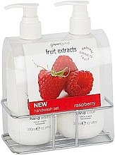 Düfte, Parfümerie und Kosmetik Set - Greenland Fruit Extracts Raspberry (soap/300ml + h/lot/300ml + st)