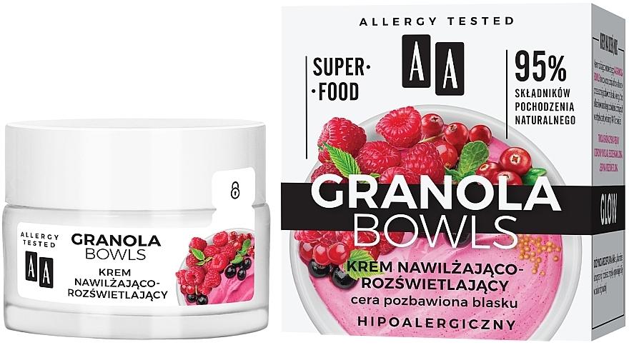 Feuchtigkeitsspendende und aufhellende Gesichtscreme für stumpfe Haut - AA Granola Bowls