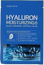 Düfte, Parfümerie und Kosmetik Feuchtigkeitsspendende und beruhigende Tuchmaske für das Gesicht mit Hyaluronsäure - Some By Mi Hyaluron Moisturizing Glow Luminous Ampoule Mask