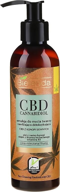 Feuchtigkeitsspendende Gesichtsemulsion mit Hanfsamen - Bielenda CBD Cannabidiol Emulse