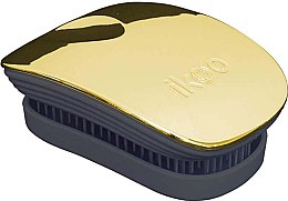 Düfte, Parfümerie und Kosmetik Haarbürste - Ikoo Pocket Soleil Metallic Black
