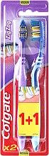 Düfte, Parfümerie und Kosmetik Zahnbürste mittel Zig Zag lila, blau 2 St. - Colgate Zig Zag Plus Medium