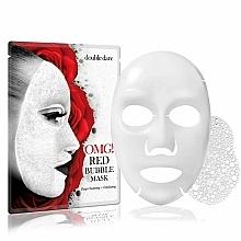 Düfte, Parfümerie und Kosmetik Tief reinigende und exfolierende Tuchmaske für das Gesicht mit Extrakten aus 8 roten Pflanzen - Double Dare OMG! Red Bubble Mask