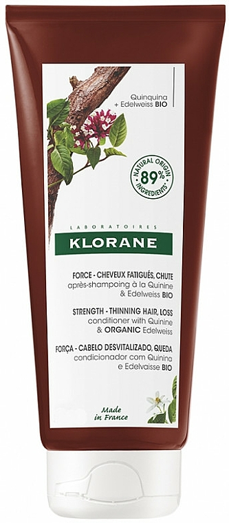 Haarspülung mit Edelweiß - Klorane Strength Tired Hair & Fall Conditioner With Quinine And Edelweiss Organic — Bild N1