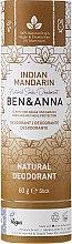 Düfte, Parfümerie und Kosmetik Natürlicher Soda Deostick Indian Mandarine - Ben & Anna Natural Soda Deodorant Paper Tube Indian Mandarine