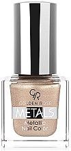 Düfte, Parfümerie und Kosmetik Nagellack - Golden Rose Metals Metallic Nail Color