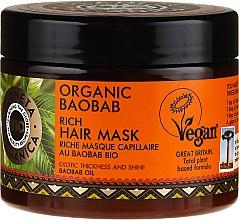Düfte, Parfümerie und Kosmetik Reichhaltige Haarmaske mit Bio Boababöl - Planeta Organica Organic Baobab Rich Hair Mask