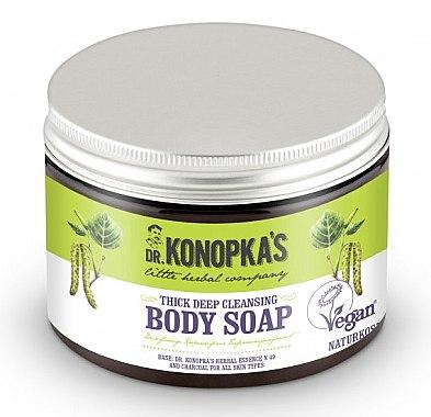 Tiefenreinigende dicke Körperseife mit Aktivkohle - Dr. Konopka's Deep Cleansing Thick Body Soap — Bild N1