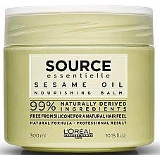 Düfte, Parfümerie und Kosmetik Nährende Balsam-Haarmaske mit Sesam- und Kokosöl - L'Oreal Professionnel Source Essentielle Nourishing Balm