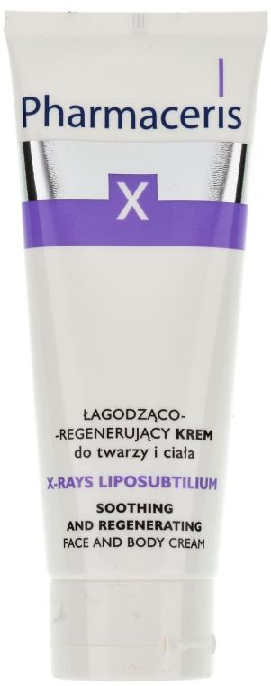 Beruhigende und regenerierende Gesichts- und Körpercreme - Pharmaceris X XRay-Liposubtilium Sooting and Regenerating Cream For Face and Body — Bild N1