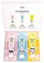 Düfte, Parfümerie und Kosmetik Körperpflegeset - Village 11 Factory Sun Care Special Kit (Feuchtigkeitsspendendes Sonnenschutz-Fluid 25ml + Lotion für problematische und empfindliche Haut 25ml + Sonnenschutz-Creme 25ml)