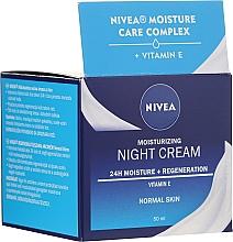 Düfte, Parfümerie und Kosmetik Feuchtigkeitsspendende und regenerierende Nachtcreme mit Vitamin E für normale Haut - Nivea Moisturizing Night Cream Vitamin E For Normal Skin