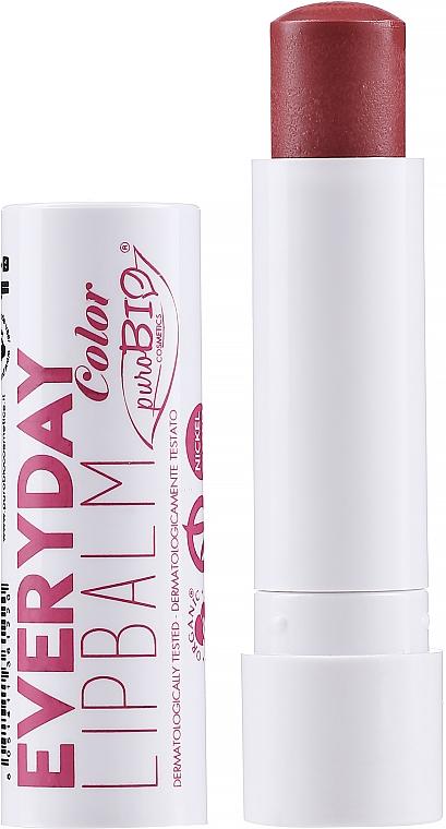 Lippenbalsam mit Farbe für täglichen Gebrauch - PuroBio Cosmetics Everyday Color Lip Balm — Bild N1