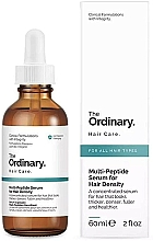 Düfte, Parfümerie und Kosmetik Konzentriertes Serum mit Peptidkomplex für dickeres Haar - The Ordinary Multi Peptide Serum For Hair Density