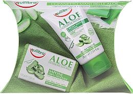 Düfte, Parfümerie und Kosmetik Körperpflegeset - Equilibra Aloe (Hand- und Nagelcreme 75ml + Seife 100g)