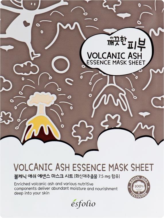 Feuchtigkeitsspendende und porenreinigende Tuchmaske mit Vulkanasche - Esfolio Pure Skin Volcanic Ash Essence Mask Sheet