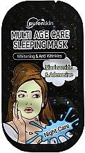 Düfte, Parfümerie und Kosmetik Aufhellende Anti-Falten Tuchmaske für die Nacht - PurenSkin Multi Age Care Sleeping Mask