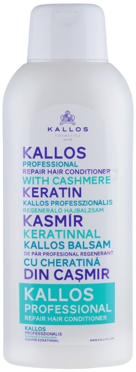 Regenerierende Haarspülung - Kallos Cosmetics Repair Hair Conditioner With Cashmere Keratin