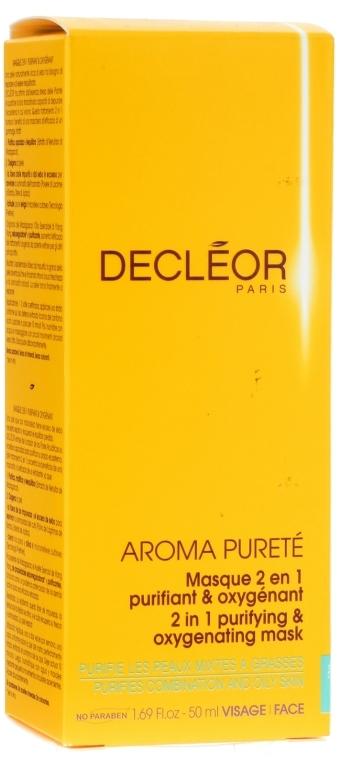 2in1 Verfeinernde Gesichtsmaske mit Ylang-Ylang-Öl und Extrakt aus weißer Seerose - Decleor Aroma Purete Masque 2 en 1 Purifiant & Oxygenant — Bild N2