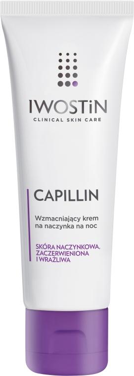 Nachtcreme mit Rosskastanie und Vitamin C für irritierte Haut - Iwostin Capillin — Bild N1