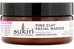 Düfte, Parfümerie und Kosmetik Gesichtsmaske mit roser Tonerde, Aloe Vera und Gurke - Sukin Pink Clay Facial Masque