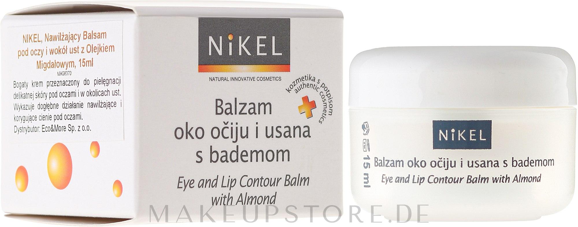 Augen- und Lippenkonturen-Balsam mit Mandelöl - Nikel Eye and Lip Contour Balm — Bild 15 ml