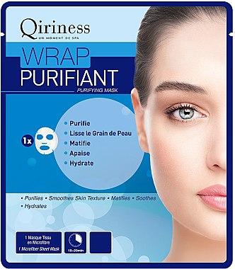 Pflegende Tuchmaske - Qiriness Wrap Purifiant Mask — Bild N1