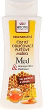 Düfte, Parfümerie und Kosmetik Regenerierende Reinigungsmilch mit Honig und Q10 - Bione Cosmetics Honey + Q10 Milk