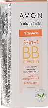 Düfte, Parfümerie und Kosmetik 5in1 Multifunktionale BB Creme mit Papaya-Extrakt LSF 15 - Avon Nutra Effects Radiance BB Cream With Papaya Extract SPF15