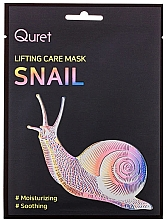 Düfte, Parfümerie und Kosmetik Feuchtigkeitsspendende und beruhigende Gesichtsmaske mit Schneckenschleimextrakt - Quret Lifting Care Mask Snail