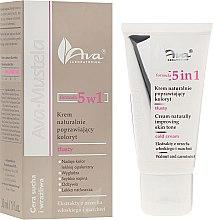 Düfte, Parfümerie und Kosmetik Leichte Gesichtscreme mit Walnuss- und Karottenextrakt - Ava Laboratorium Ava Mustela 5In1 Cream