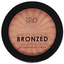 Düfte, Parfümerie und Kosmetik Bronze-Puder mit Schimmer - MUA Bronzed Shimmer Bronzing Powder Solar Shimmer