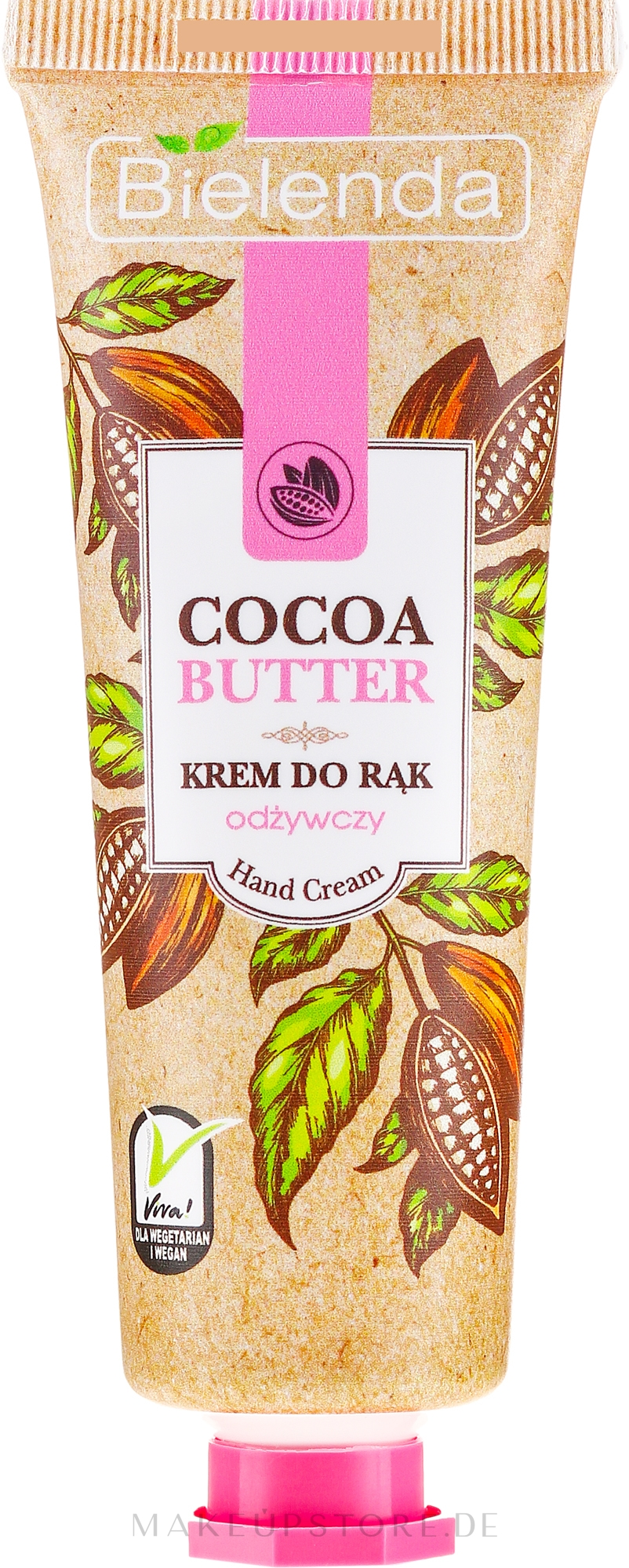 Nährende Handcreme mit Kakaobutter - Bielenda Nourishing Hand Cream — Bild 50 ml