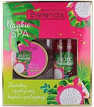 Düfte, Parfümerie und Kosmetik Körperpflegeset - Bielenda Exotic Paradise Pitaja (Körperpeeling 350g + Körperöl 400ml)