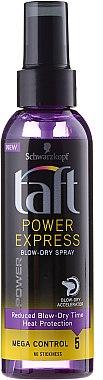 Haarspray für schnelles Trocknen mit Hitzeschutz Starker Halt - Schwarzkopf Taft Power Express Spray