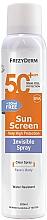 Düfte, Parfümerie und Kosmetik Sonnenschutzspray für Gesicht und Körper SPF 50+ - Frezyderm Sun Screen Invisible SPF50+ Spray