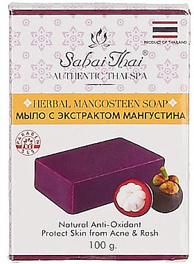 Seife mit Mangostan Extrakt gegen Akne - Sabai Thai Herbal Mangosteen Soap — Bild N1