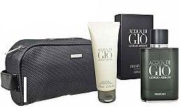 Düfte, Parfümerie und Kosmetik Giorgio Armani Acqua di Gio Profumo - Duftset (Eau de Parfum 75ml + Duschgel 75ml+ Kosmetiktasche)