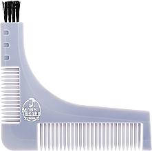 Düfte, Parfümerie und Kosmetik Bartschablone mit integriertem Bartkamm grau - Man'S Beard