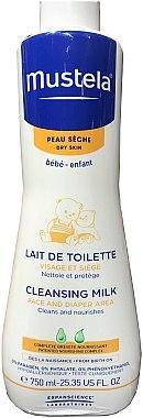 Pflegende Reinigungsmilch für Gesicht und Windelbereich für Kinder und Babys - Mustela Facial Cleansing Milk — Bild N2