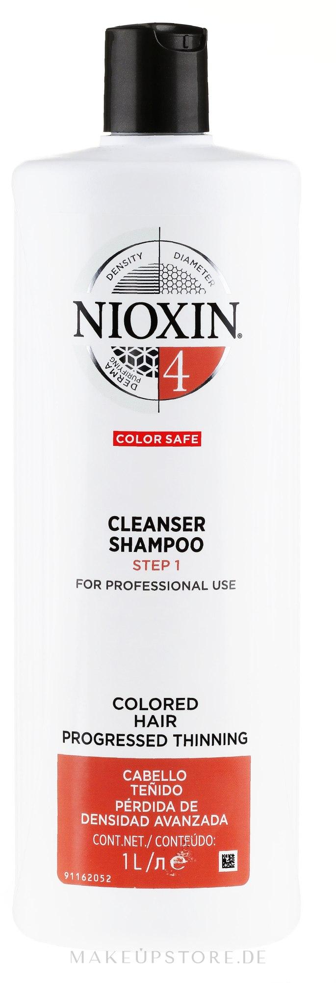 Reinigungsshampoo für coloriertes Haar - Nioxin Thinning Hair System 4 Cleanser Shampoo Step 1 — Bild 1000 ml