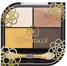 Düfte, Parfümerie und Kosmetik Lidschatten-Quartett - Dermacol Quattro Eye Shadows Limited Edition