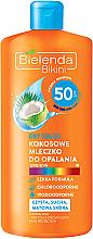Düfte, Parfümerie und Kosmetik Sonnenschutzlotion mit Kokosmilch SPF 50 - Bielenda Bikini Dry Touch Coconut Sun Lotion SPF 50