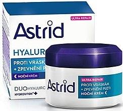 Düfte, Parfümerie und Kosmetik Straffende Anti-Falten Nachtcreme mit Hyaluronsäure - Astrid Hyaluron Plus Ultra Repair Antiwrinkle and Firming Night Cream SPF 10