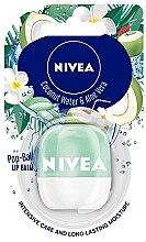 Düfte, Parfümerie und Kosmetik Lippenbalsam mit Kokoswasser- und Aloe vera-Duft - Nivea Pop-Ball Coconut Water & Aloe Vera Lip Balm