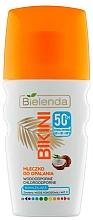 Düfte, Parfümerie und Kosmetik Wasserfeste Sonnenschutzmilch für den Körper mit Kokoswasser und Vitamin E SPF 50 - Bielenda Bikini Coconut Milk SPF 50