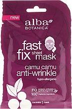 Düfte, Parfümerie und Kosmetik Anti-Falten Tuchmaske für das Gesicht mit Camu-Camu - Alba Botanica Fast Fix Sheet Mask Camu Camu Anti-Wrinkle
