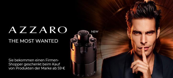 Bei Bestellung von Azzaro Produkten ab 59 € bekommen Sie einen Firmen-Shopper geschenkt