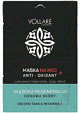 Düfte, Parfümerie und Kosmetik Regenerierendes Schlafmaske mit Tara-Baum und Vitamin A - Vollare Anti-Oxidant Sleeping Mask
